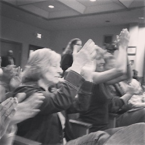 Animal lovers celebrated the Riverhead Town Board's vote Tuesday afternoon to move its animal shelter.
