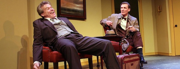 "John Kern and Matthew Conlon in the Hampton Theatre Company's production of ""Harvey.   Tom Kochie photo."