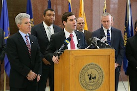 Assistant Deputy County Executive for Public Safety Tim Sini spoke about new opiod treatments at yesterday's press conference