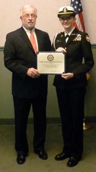 Cadet Corwin with former Congressman Tim Bishop.
