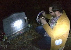 At Robert Johnson's grave.   Gianna Volpe photo