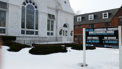 Southold's United Methodist Church is for sale, but it is already commercially zoned.