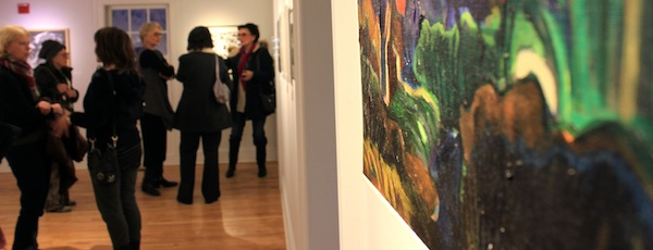 """East End Arts' """"Abstract and Almost Abstract"""" juried show opened Friday night."""