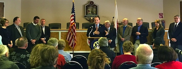 Lee Zeldin at Sunday's press conference | Courtesy photo
