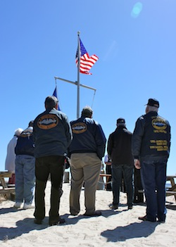 Submariners gathered in New Suffolk Sunday.