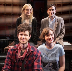 The Cast: (clockwise from the top left) Justine Lupe, Teddy Bergman, Peter Mark Kendall and Elvy Yost  |  Lenny Stucker photo for Bay Street Theatre