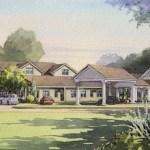 An artist's rendering of Peconic Landing's Memory Care Center, now under construction.