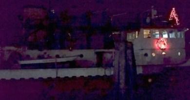 Fireboat, Christmas Night, Greenport