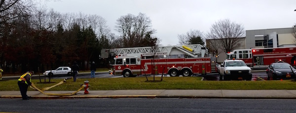 RFD responds to the Riverhead High School Sunday afternoon. | beth young photo