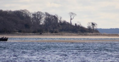 Aground Monday on Robins Island
