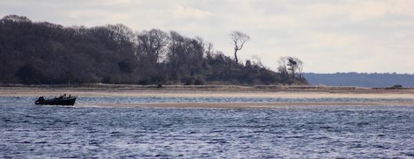 Aground Monday on Robins Island