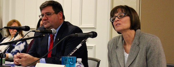 Julie Lofstad (right) xx Richard Yastrzemski (left) in Tuesday's special election for the Southampton Town Board.
