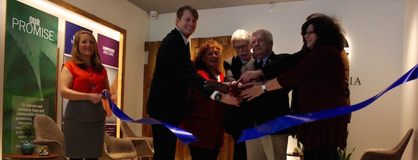Columbia Care Nicholas and Riverhead Town Councilman John Dunleavy helped cut the ribbon Friday morning.