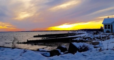 Waiting on more snow, sunset