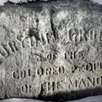 A marker for the burial ground at Sylvester Manor.
