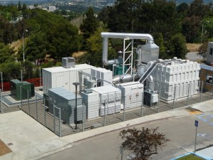 Fuel Cell Energy's 1.4 megawatt fuel cell plant.