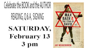 """Jay Neugeboren reads from """"Max Baer and the Star of David"""" at Floyd Memorial Library"""
