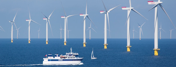 The Anholt offshore wind power plant in Denmark. Offshore wind has become prevalent in Europe.