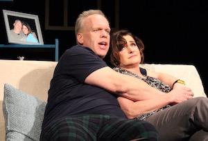 Joe (Alan Stewart) is onto Becky's stories.