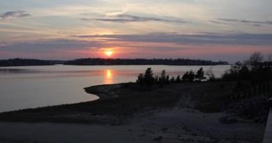 Sunset from the Sag Harbor bridge.
