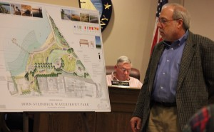 Ed Hollander discussed the park plan.