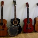 Guitars collected at the John Jermain Memorial Library