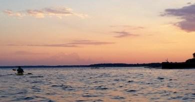 Friday, Sunset off New Suffolk