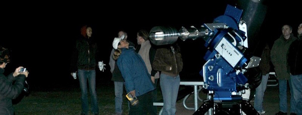 The queue to view Saturn at a recent Montauk Observatory event   Montauk Observatory photo