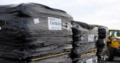 Geobags prepared for deployment at the FIMP project in Montauk last November.
