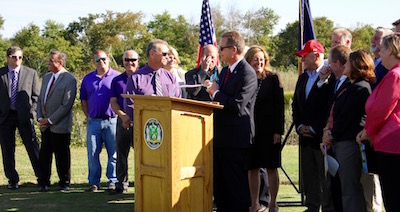 At Friday's press conference at Indian Island Golf Course