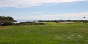 Indian Island Golf Course, on the edge of the Peconic Estuary, will soon be irrigating using reclaimed water from the Riverhead Sewage Treatment Plant.