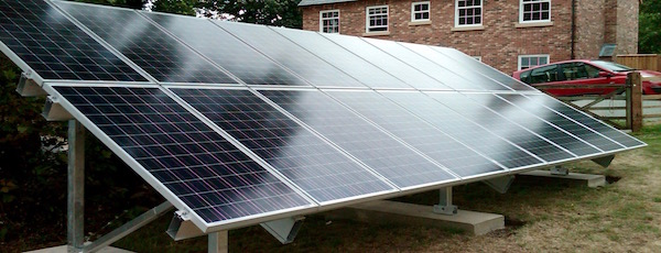 Ground-mounted solar panels can be a good solution for homeowners whose roof has too much shade for solar power.