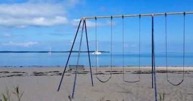 Havens Beach, Sag Harbor, Monday afternoon.