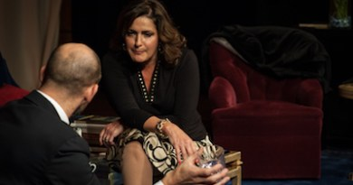 """John Leonard and Catherine Maloney in SCC's production of """"God of Carnage."""""""
