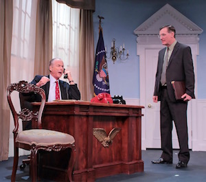 Andrew Botsford and Matthew Conlon as President Smith and Archer Brown | Tom Kochie photo for HTC