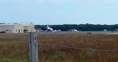At the East Hampton Airport in September.