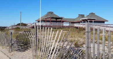 The Ponquogue Beach pavilion.