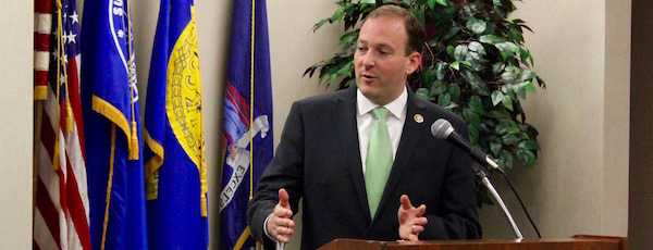 Congressman Lee Zeldin at a New York League of Conservation Voters forum in Riverhead this fall.