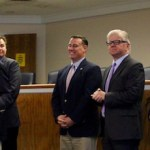 Local politicians announced the filing of the complaint at Southold Town Hall Tuesday.