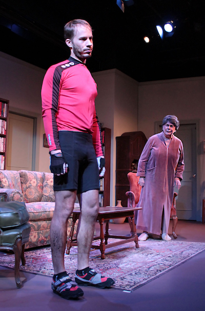 """Ben Schnickel as Leo and Diana Marbury as Vera in HTC's production of """"4000 Miles""""  