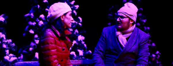 "Tamara Flanell and Colin Palmer in NFCT's production of ""Almost, Maine."""