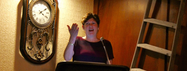 Laura Jens-Smith announced her candidacy Tuesday night.
