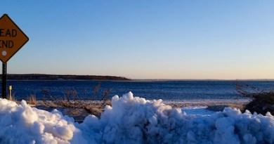 Dead end, winter wind.