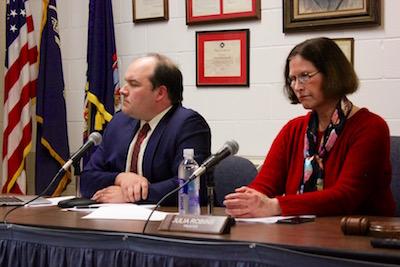 Doug Roberts and Julia Robins at Thursday's meeting.