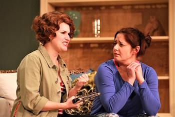 "Kelsey Cheslock as Molly and Michelle Corbett as Tess in NFCT's production of ""The Female of the Species."""
