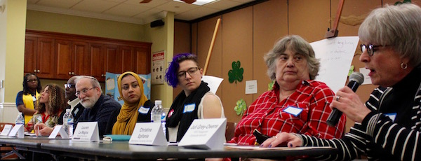 Panelists at the South Fork Grassroots Town Hall for Unity.