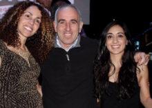 OLA Executive Director Minerva Perez, Southampton Town Supervisor Jay Schneiderman and drummer Carolina Fuentes of Mi Latina at Saturday's pachanga.