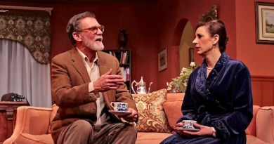 """Matthew Conlon and Rebecca Edana in HTC's production of """"An Act of the Imagination."""". Tom Kochie photo."""