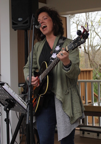 Julia King performs at Group for the East End's celebration at Downs Farm Preserve.