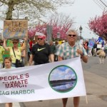 As the procession began down the sidewalk of Sag Harbor's Main Street Saturday afternoon.